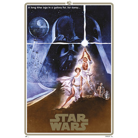 POSTER STAR WARS CLASSIC 40 ANIVERSARIO ONE SHEET A