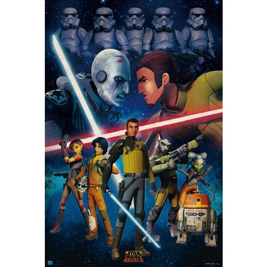 POSTER STAR WARS REBELS DUELO