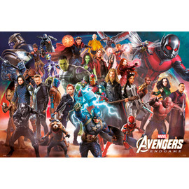 POSTER MARVEL AVENGERS ENDGAME LINE UP