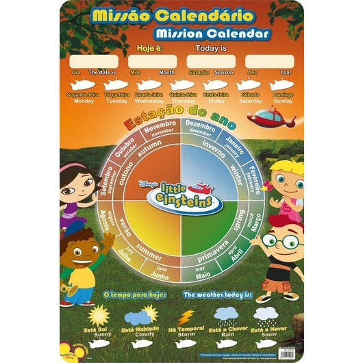 LAMINA DIDACTICA PORTUGUES CALENDARIO LITTLE EINSTEINS