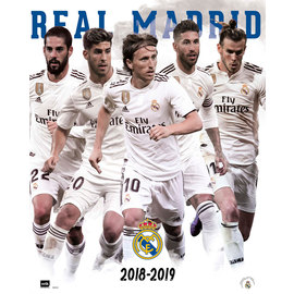 MINI POSTER REAL MADRID 2018/2019 GRUPO