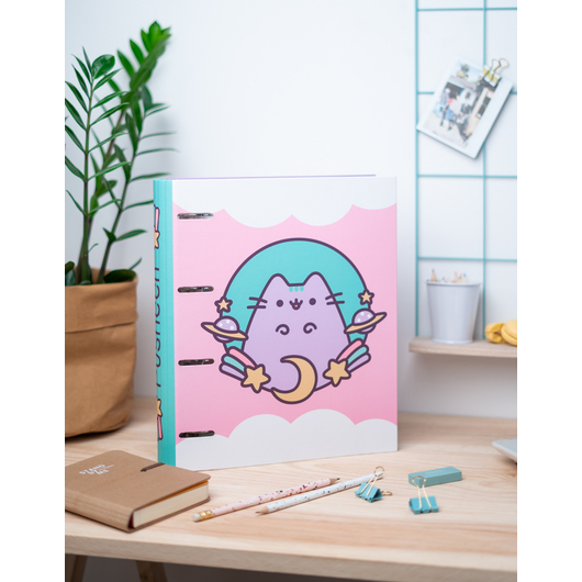 CARPETA 4 ANILLAS TROQUELADA PREMIUM PUSHEEN THE CAT 2