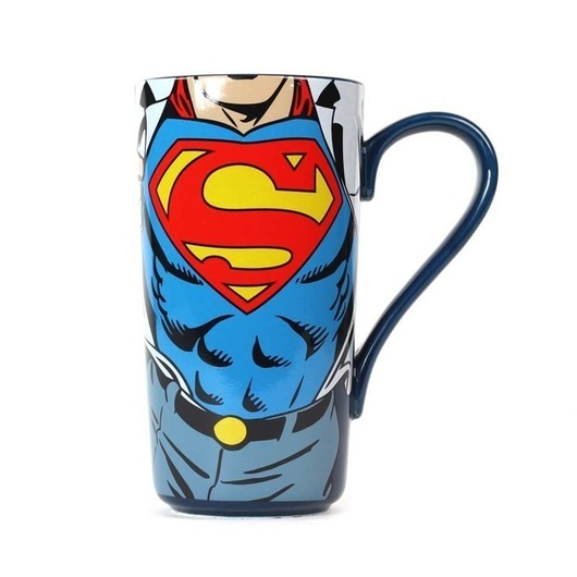 TAZA LATTE DC COMICS SUPERMAN SUPER STRENGTH