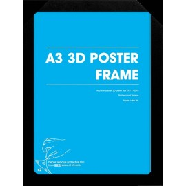 Marco Posters 3D A3 Negro