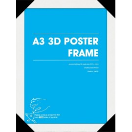 Marco Posters 3D A3 Blanco