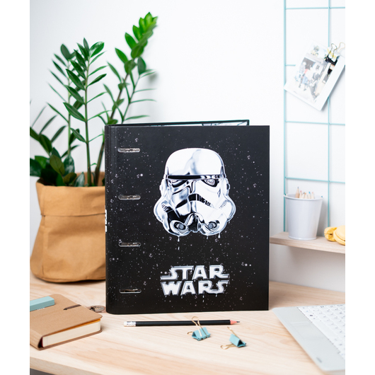 CARPETA 4 ANILLAS TROQUELADA STAR WARS CLASSIC TROOPER