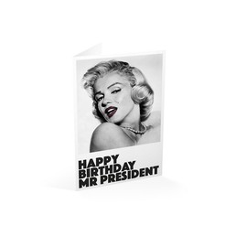TARJETA FELICITACION HAPPY BIRTHDAY MR. PRESIDENT
