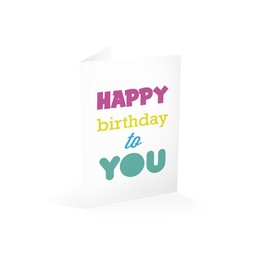 TARJETA FELICITACION HAPPY BIRTHDAY TO YOU