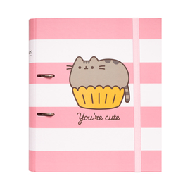 CARPETA 2 ANILLAS TROQUELADA PREMIUM PUSHEEN ROSE COLLECTION