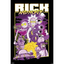 POSTER RICK AND MORTY CHARACTERS