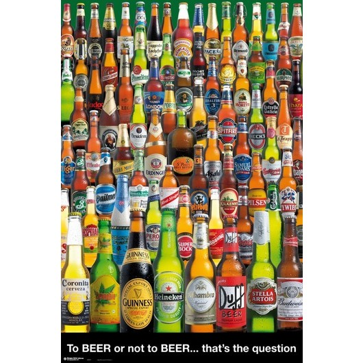 POSTER CERVEZAS TO BEER OR NOT TO BEER
