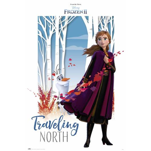 POSTER DISNEY FROZEN TRAVELING NORTH