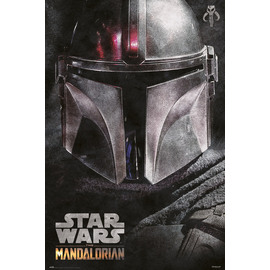 POSTER STAR WARS THE MANDALORIAN HELMET