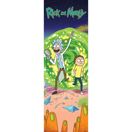 POSTER PUERTA RICK AND MORTY PORTAL