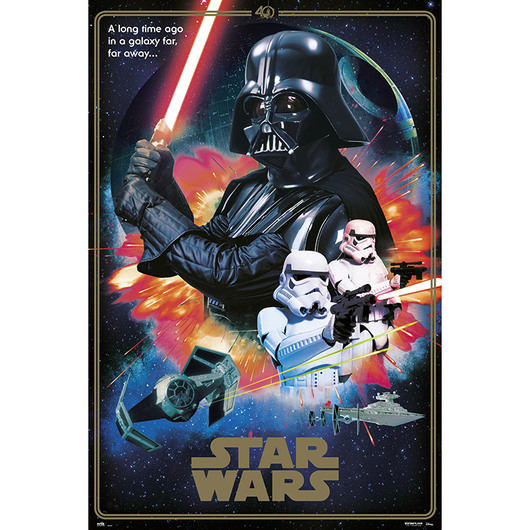 POSTER STAR WARS CLASSIC 40 ANIVERSARIO VILLAINS