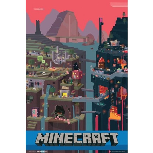 POSTER MINECRAFT WORLD