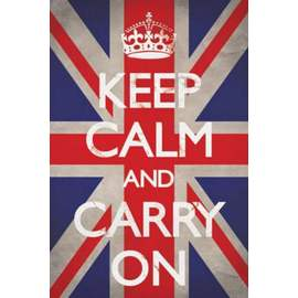 POSTER KEEP CALM AND CARRY ON- UNION JACK
