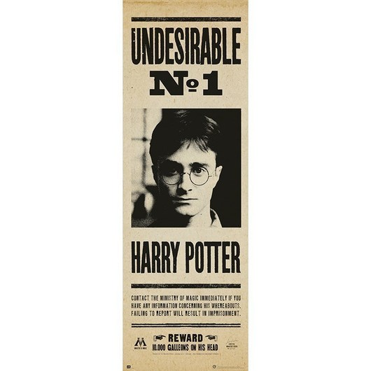 POSTER PUERTA HARRY POTTER UNDESIRABLE N§1