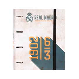 CARPETA 4 ANILLAS TROQUELADA PREMIUM REAL MADRID VINTAGE COLLECTION
