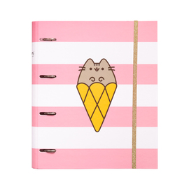 CARPETA 4 ANILLAS TROQUELADA PREMIUM PUSHEEN ROSE COLLECTION
