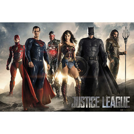 POSTER DC COMICS JUSTICE LEAGUE MOVIE ALL CHARACTERS