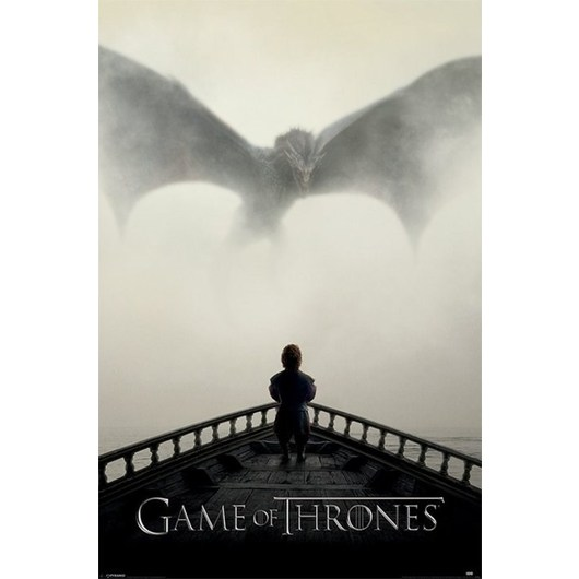POSTER GAME OF THRONES ( A LION & A DRAGON)