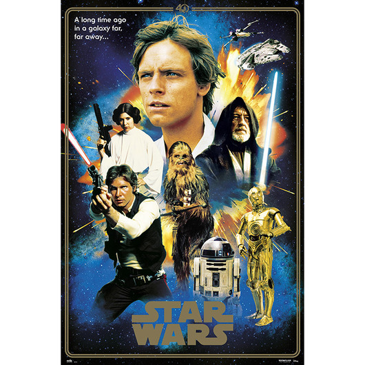 POSTER STAR WARS CLASSIC 40 ANIVERSARIO HEROES