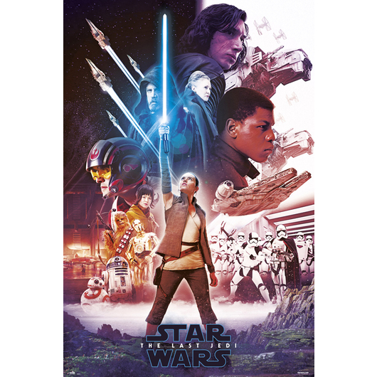 POSTER STAR WARS VIII BLUE SABER