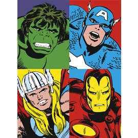 CANVAS 30X40 CM MARVEL FOUR HEROES