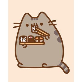 CANVAS 20X25 CM PUSHEEN THE CAT SUSHI