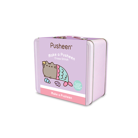 MALETIN METALICO KIT PUNTO DE CRUZ PUSHEEN