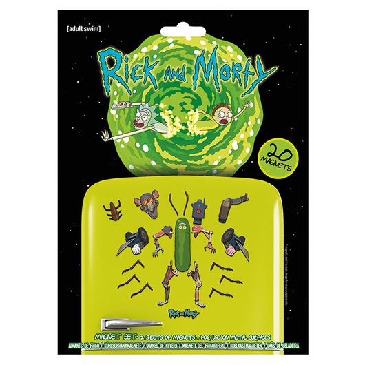 SET IMANES RICK & MORTY