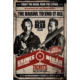 POSTER THE WALKING DEAD FIGHT
