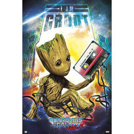 POSTER GUARDIANS OF THE GALAXY VOL 2 GROOT
