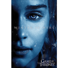 POSTER GAME OF THRONES WINTER IS HERE DAENERYS