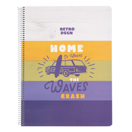 CUADERNO TAPA POLIPROPILENO A4 5X5 MICROPERFORADO CALIFORNIA DREAMING