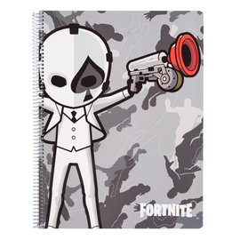 CUADERNO TAPA POLIPROPILENO A4 5X5 MICROPERFORADO FORTNITE