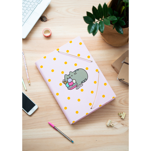 CARPETA SOLAPAS PUSHEEN ROSE COLLECTION