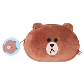 ESTUCHE DE FELPA LINE FRIENDS BROWN