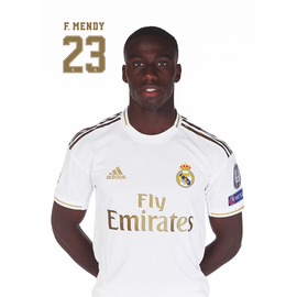 POSTAL REAL MADRID 2019/2020 MENDY BUSTO