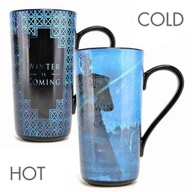 TAZA LATTE TERMOCOLORA GAME OF THRONES WINTER IS COMING