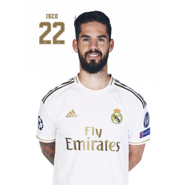 POSTAL REAL MADRID 2019/2020 ISCO BUSTO