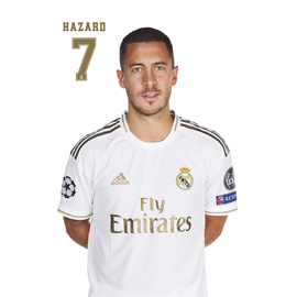 POSTAL REAL MADRID 2019/2020 HAZARD BUSTO