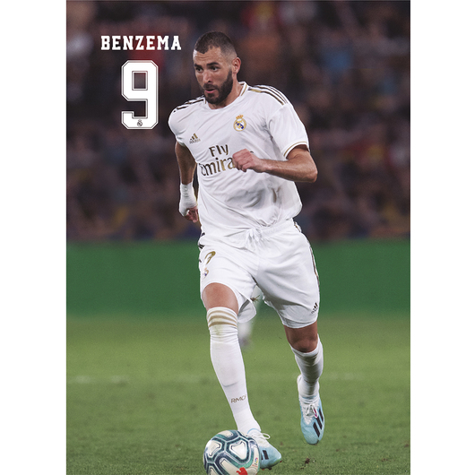 POSTAL REAL MADRID 2019/2020 BENZEMA ACCION