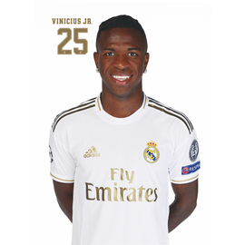 POSTAL REAL MADRID 2019/2020 VINICIUS JR BUSTO