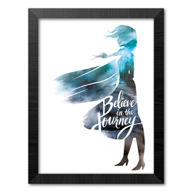 PRINT ENMARCADO 30X40 CM DISNEY FROZEN II BELIEVE IN THE JOURNEY