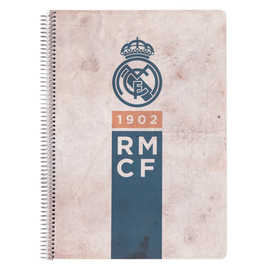 CUADERNO TAPA POLIPROPILENO A4 4X4 REAL MADRID VINTAGE COLLECTION