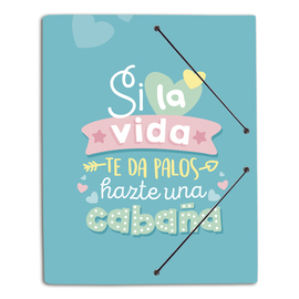 CARPETA GOMAS A4 POLIPROPILENO CAROUGE SWEET