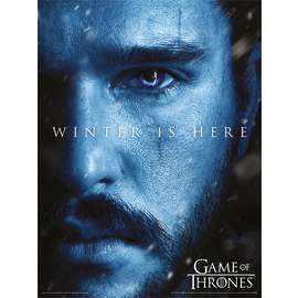 ART PRINT 30X40 GAME OF THRONES WINTER IS HERE JON