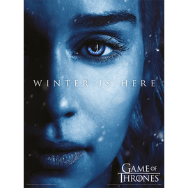 ART PRINT 30X40 GAME OF THRONES WINTER IS HERE DAENERYS